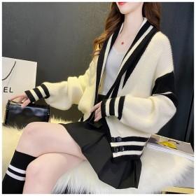 毛衣针织开衫外套女2020春秋新款女装宽松长袖上衣