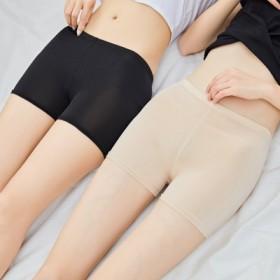 安全裤大码防走光女夏季蕾丝可内外穿冰丝三分保险短裤