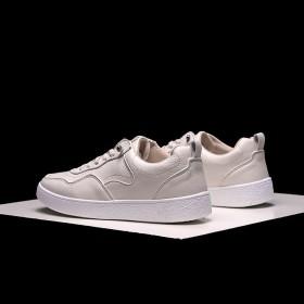 男士休闲板鞋韩版帆布鞋青年学生低高帮平底透气小白鞋