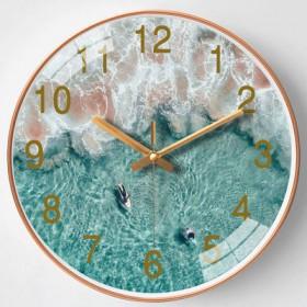 北欧创意石英钟表客厅家用挂钟星空卡通现代...