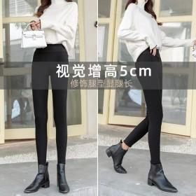 打底裤女外穿秋季高腰显瘦百搭小脚紧身黑色九分铅笔