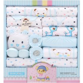初生婴儿衣服套装春秋纯棉新生儿礼盒刚出生宝宝用品