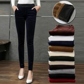 厂家直供好品质秋冬款灯芯绒女裤8色任选不好包退