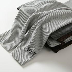 螺纹加绒打底裤子女外穿秋冬季女装薄款韩版显瘦大码