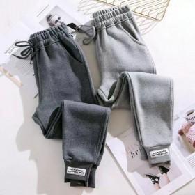 新款卫裤加绒打底韩版休闲裤子