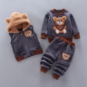童装男童秋冬装婴儿童休闲套装三件套0-1-4岁男女