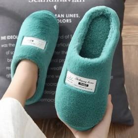棉拖鞋女男冬季居家包跟室内防滑厚底保暖毛毛月子鞋情