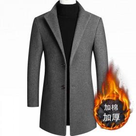 毛呢外套秋冬新款呢大衣修身羊毛呢男装中长款呢子风衣