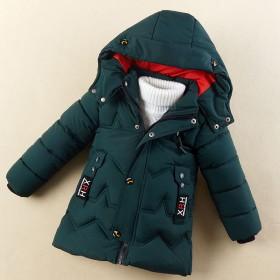 儿童棉衣童装冬装男童羽绒棉服加厚棉袄小孩外套中长款