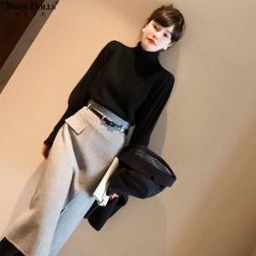 小香风名媛御姐范职业气质毛衣裙子韩系洋气女神两件套