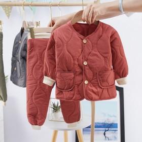 秋冬新款儿童羽绒棉服套装宝宝内胆加厚棉衣两件套中小