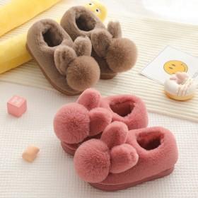 儿童棉拖鞋冬女童包跟可爱冬季室内男宝宝棉鞋大中小童