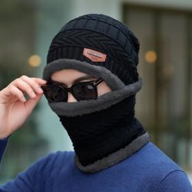 冬季保暖加绒加厚毛线帽