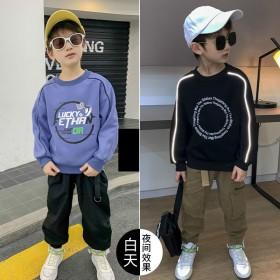 中大童3-16岁男童秋冬款卫衣长袖韩版上衣儿童圆领