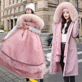 可拆卸派克服2020新款韩版冬季大毛领中长款过膝加