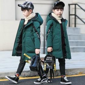男童冬装棉衣外套2020新款棉袄中长款洋气加厚儿童
