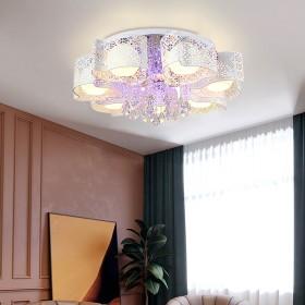 水晶灯客厅灯简约现代北欧时尚轻奢卧室灯具大气