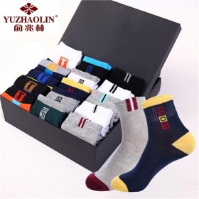 【俞兆林】10双 袜子男女士四季通用船袜中筒袜子