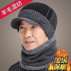 羊毛帽子围脖两件套