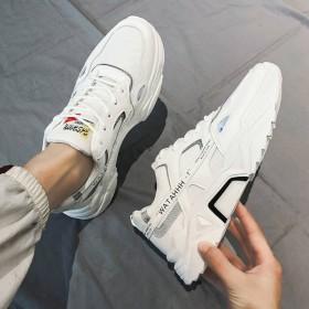 新款秋季男鞋百搭运动休闲跑步韩版潮流小白板鞋冬季