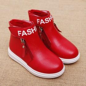 儿童雪地靴女童靴子秋冬男童加绒加厚棉鞋单靴短靴