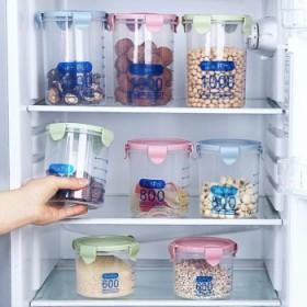 家用厨房储物罐透明塑料密封食品五谷杂粮收纳盒子各种