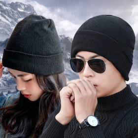 加厚保暖护耳针织毛线棉帽子