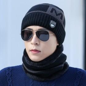 毛线帽子围脖两件套