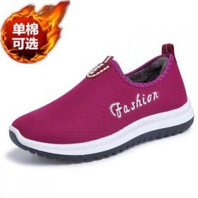 老北京加绒布鞋一脚蹬舒