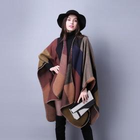 秋冬围巾百搭格子女士旅行披肩仿羊绒欧美外贸民族风开