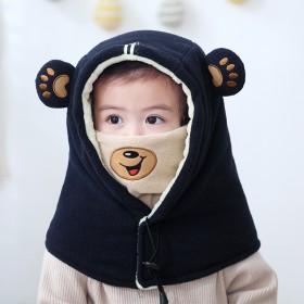 儿童围脖帽子一体护耳宝宝帽子
