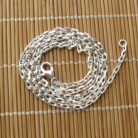 素银925纯银项链毛衣链百搭款