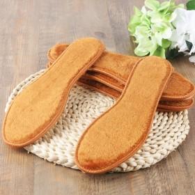 羊绒加厚保暖毛绒鞋垫皮毛一体纯毛吸汗运动冬暖和通用