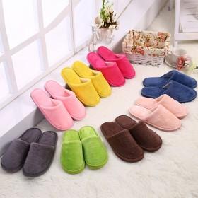 新款长毛绒室内居家秋冬季木地板防滑保暖静音棉拖鞋