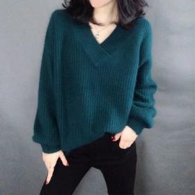 法式毛衣女秋冬宽松外穿慵懒风套头宽松马海毛针织衫上