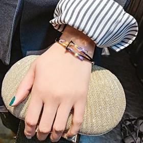 手环女气质网红风个性满钻洋气手链韩版简约合金饰品
