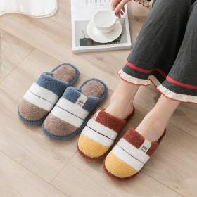 棉拖鞋女秋冬季家用居家保暖情侣男厚底室内防滑毛绒色