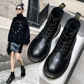 真皮六孔八孔马丁靴女加绒厚底1460瘦显脚小