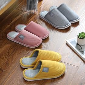 新款日系棉拖鞋女家用冬季室内防滑家居情侣可爱毛绒男