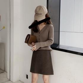 2020秋冬新款毛衣外套女韩国温柔风优雅显瘦软糯