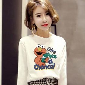 长袖女装新款韩版时尚T恤女装女式宽松上衣