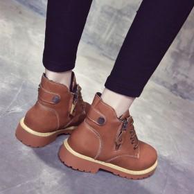 chic马丁靴女短筒英伦风短靴
