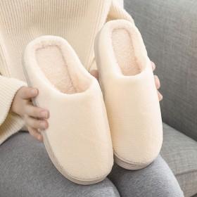 棉拖鞋女包跟情侣厚底冬季月子居家居保暖室内防滑毛毛