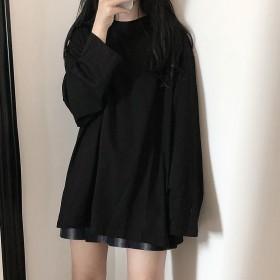 秋季新款韩版女装长袖T恤学生宽松外穿百搭上衣女