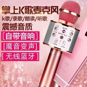 手机全民K歌神器无线蓝牙儿童麦克风话筒KTV一体式
