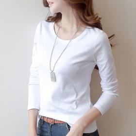 T恤女士2020新款潮长袖上衣体桖修身打底衫初