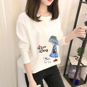 2020春秋新款韩版爆款女式长袖T恤女打底衫