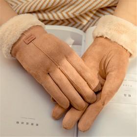 手套女冬季加绒加厚保暖触屏毛线手套