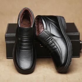 男士棉鞋冬季保暖爸爸鞋
