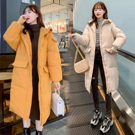 冬装女2020冬季新款羽绒棉服中长款宽松女式长袖棉